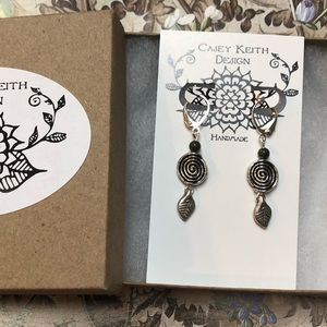 Casey Keith Design Jewelry - Ryolite Spiral Earrings